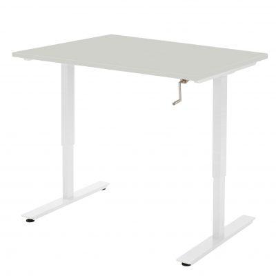 Handmatig-zit-sta-bureau-Licht Grijs Wit Frame