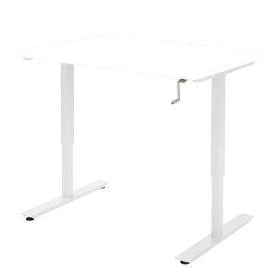 Handmatig-zit-sta-bureau-Wit Wit Frame