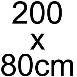 200 x 80 cm